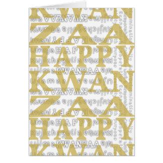 ORO feliz del diseño del paño del fango de Kwanzaa Tarjeta De Felicitación