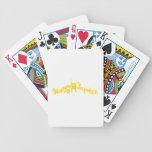 Oro feliz maravilloso del humanista baraja de cartas