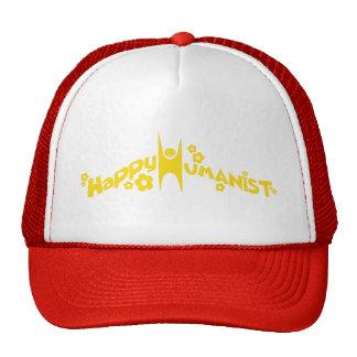 Oro feliz maravilloso del humanista gorras de camionero