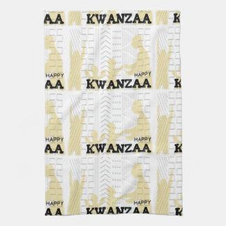 Oro feliz moderno de Kwanzaa Toalla De Mano