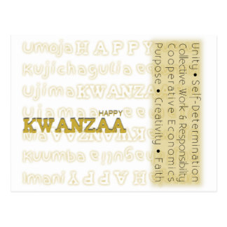 Oro feliz moderno de Kwanzaa Postal
