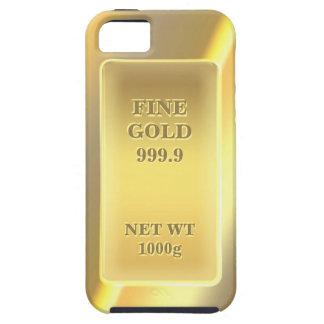 Oro fino brillante 999,9 con el texto adaptable iPhone 5 Case-Mate protector