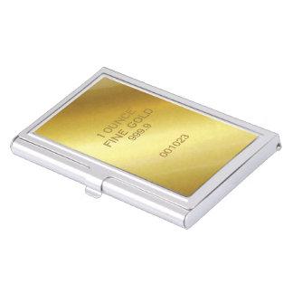 Oro fino de 1 onza caja de tarjetas de negocios