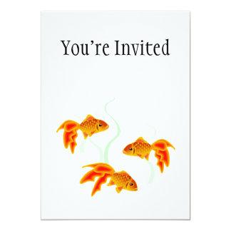 """Oro Fishies Invitación 5"""" X 7"""""""