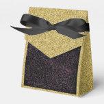 Oro Flecked con la caja manchada negra del favor Paquete De Regalo Para Bodas