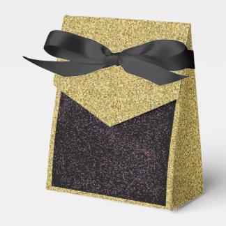 Oro Flecked con la caja manchada negra del favor Caja Para Regalos