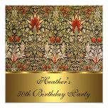 """Oro floral 1876 de Snakeshead del Victorian del Invitación 5.25"""" X 5.25"""""""
