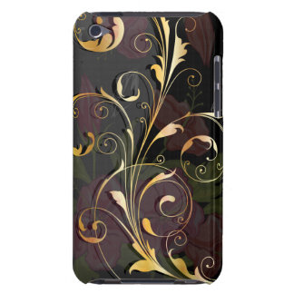 Oro floral cubierta para iPod de barely there