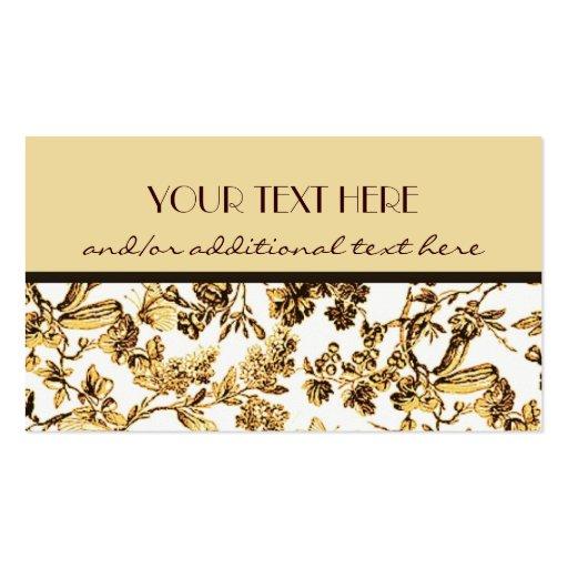 Oro floral plantilla de tarjeta de visita