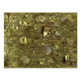 Oro fundido altamente texturizado y giros de Colla Tarjeta Postal