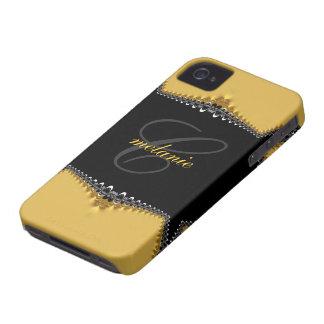 Oro gótico del vintage+iPhone negro 4 del Case-Mate iPhone 4 Fundas