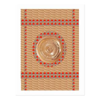 ORO grabado en relieve símbolo del mantra n Tarjetas Postales
