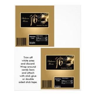 """Oro grande del dulce 16 de la envoltura de la barr folleto 8.5"""" x 11"""""""