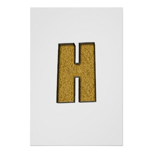 Oro H de Bling Posters