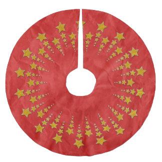 Oro I del círculo de la estrella + su backgr. y Falda Para Arbol De Navidad De Poliéster