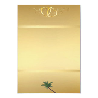 "Oro Invitation1 Invitación 5"" X 7"""