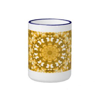 Oro islámico del arte geométrico taza a dos colores