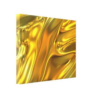 Oro líquido abstracto impresión de lienzo