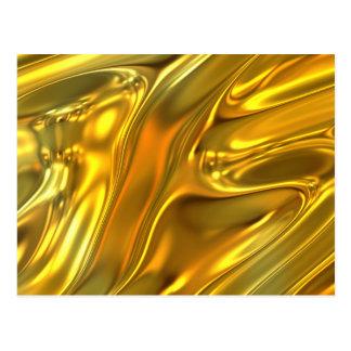 Oro líquido abstracto postal