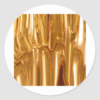 Oro líquido pegatina redonda