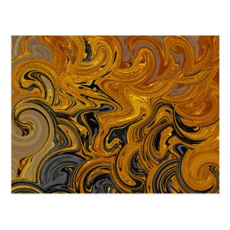 Oro líquido tarjetas postales