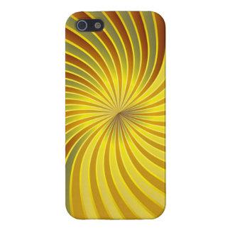 oro listo del caso del iPhone 5 y vórtice espiral  iPhone 5 Cárcasas