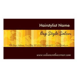 Oro llano elegante del estilista del salón tarjetas de visita