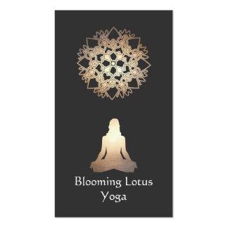 Oro Lotus de la actitud de la meditación del profe Tarjetas De Visita