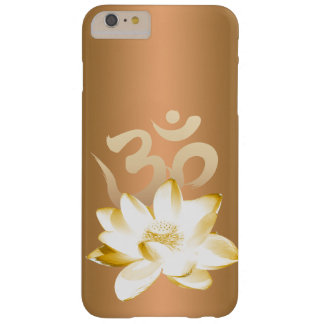Oro Lotus y yoga del símbolo de OM Funda Para iPhone 6 Plus Barely There
