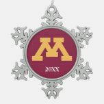 Oro M de Minnesota Adorno