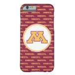 Oro M de Minnesota Funda Para iPhone 6 Barely There