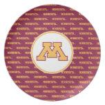 Oro M de Minnesota Plato De Cena