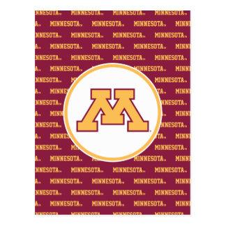 Oro M de Minnesota Postales