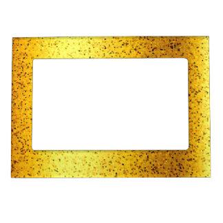Oro magnético del gráfico del brillo del marco marcos magnéticos de fotos