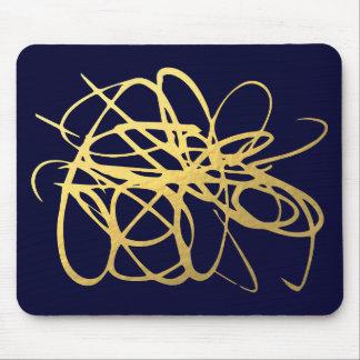 Oro magnífico Mousepad de la marina de guerra para