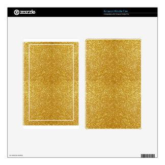 Oro magnífico pegatina skin para kindle fire