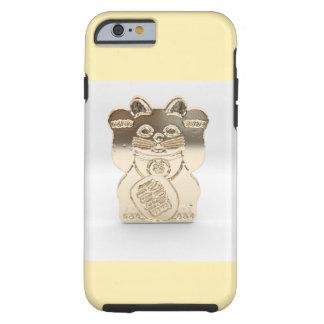 Oro Maneki Neko Funda Resistente iPhone 6