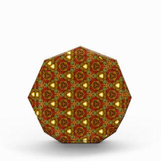 Oro medieval del modelo del art déco del diseño de