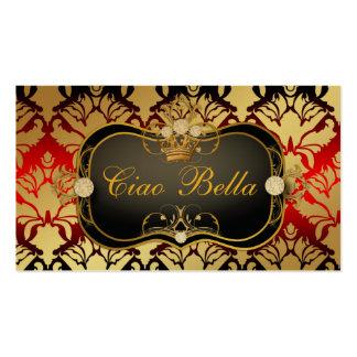 Oro metálico del Sass de la cereza del Ciao Bella Tarjetas De Visita