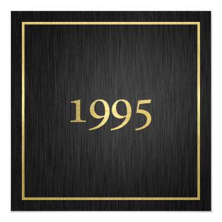 Oro metálico elegante personalizado 1995 invitación