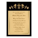 Oro metálico - invitaciones ortodoxas del boda