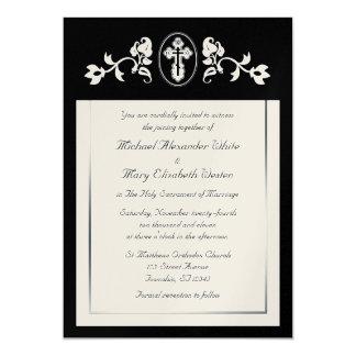 """Oro metálico - invitaciones ortodoxas del boda invitación 5"""" x 7"""""""