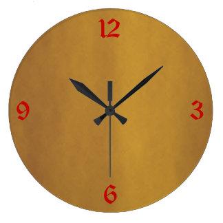 Oro minimalista > relojes llanos de la cocina