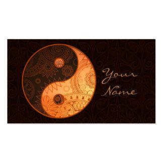 Oro modelado de Yin Yang Tarjetas De Visita