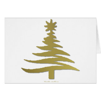 Oro moderno de la impresión de la plantilla del ár tarjeta de felicitación