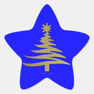 Oro moderno de la impresión de la plantilla del calcomanías forma de estrellaes