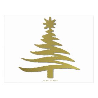 Oro moderno de la impresión de la plantilla del tarjetas postales