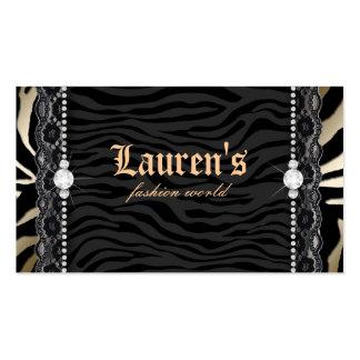Oro moderno del leopardo de la cebra del cordón de tarjeta de visita