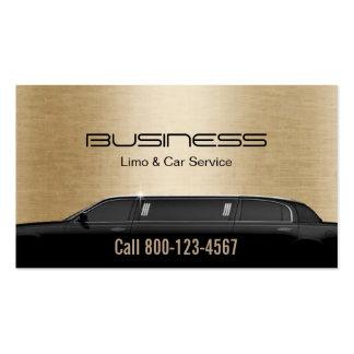Oro moderno del servicio del Limo y del coche de Tarjetas De Visita