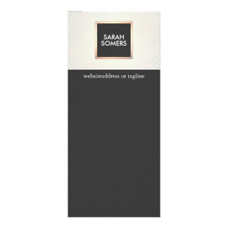 Oro moderno elegante y moda elegante negra tarjetas publicitarias personalizadas